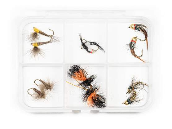 Sélection mouches hotfly TRUITE ESSENTIAL - 12 mouches...