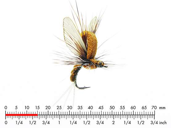 Mayfly Emerger E3 Olive Brown 15mm