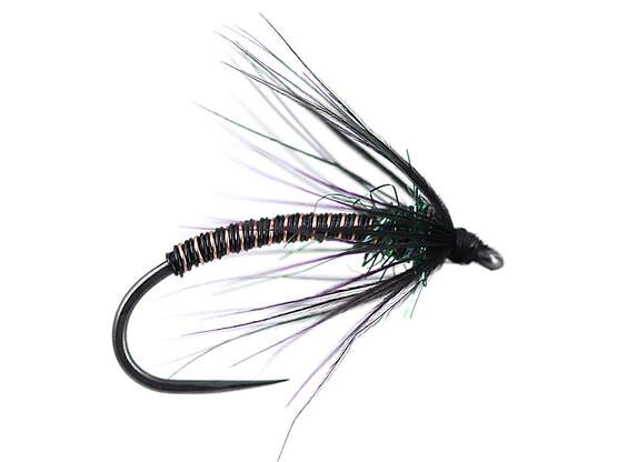 Black Metallic Soft Hackles Spider BL