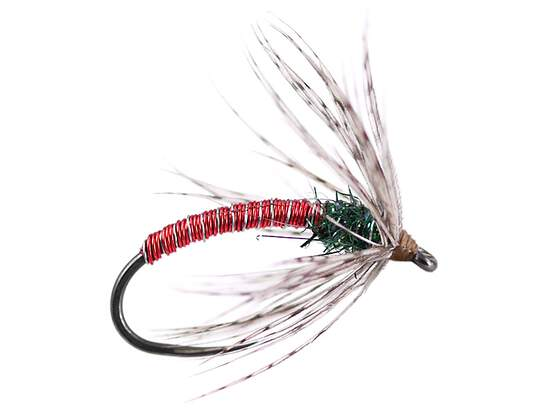 Red Metallic Soft Hackles Spider BL