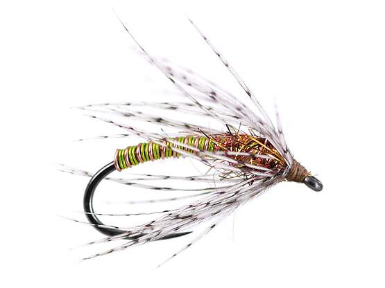 Green Metallic Soft Hackles Spider BL