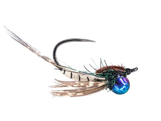 Classic Jig Off Mayfly Nymph TG BL White